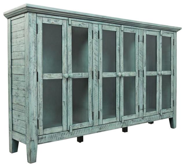 Jofran jofran rustic shores surfside 70 inch accent for Baroque 2 door accent cabinet
