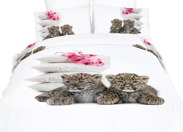 baby leopards cotton animal print bedding duvet cover sheets set by dolce mela