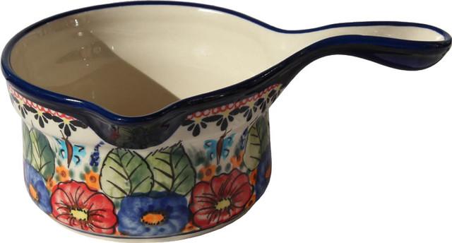 Polish Pottery Saucepan, Pattern Number: 149ar