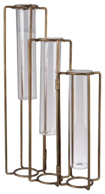 """Pedestal Beaker Vase, Oversized, 8.5x3x15"""""""