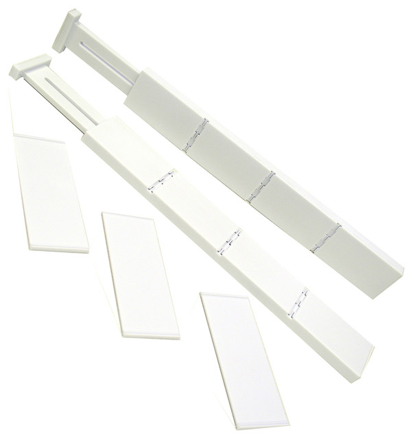 Plastic Kitchen Drawer Dividers White 5 Piece Set Contemporary Organizers By Quest Products Inc