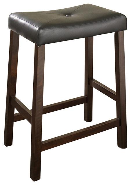 Upholstered Saddle Seat 24 Quot Barstool Vintage Style