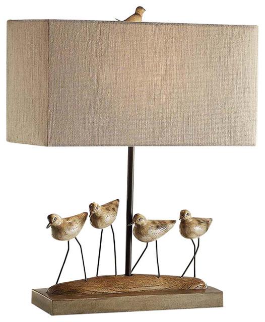 Crestview shore birds resin table lamp 235 costal bird finish shore birds resin table lamp 235 costal bird finish linen shade farmhouse table aloadofball Gallery