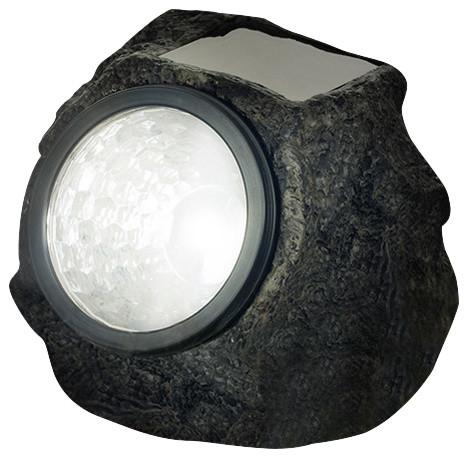 Pure Garden LED Solar Rock Landscaping Lights, Set of 4