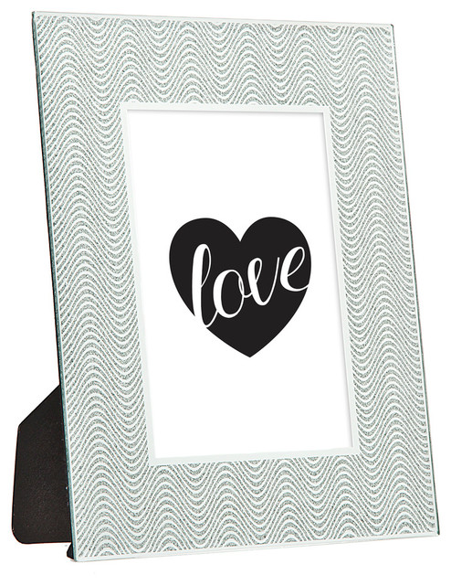 5x7 Silver Glitter Wave Frame - Contemporary - Picture Frames - by ...