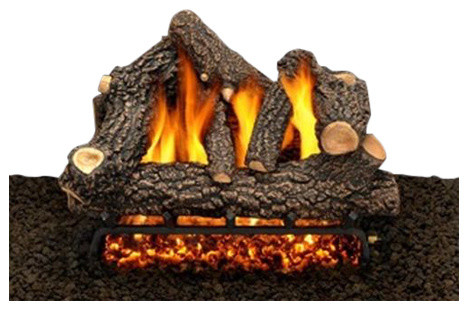 "18"" Cheyanne Glow Logs, Double Burner And Variable Flame Remote, Liquid Propane"