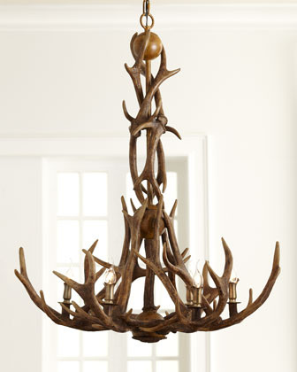 White Antler Chandeliers - Antler Chandelier Lighting, Rustic