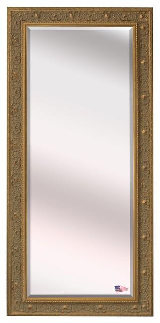 Us Made Opulent Gold Beveled Oversized Full Body Mirror, Oversized.