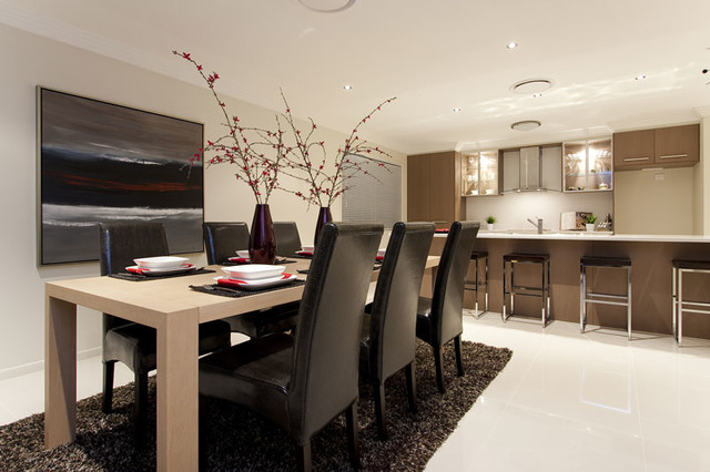 Display Home For Sunstate At Springfield Contemporary Dining Room Part 9
