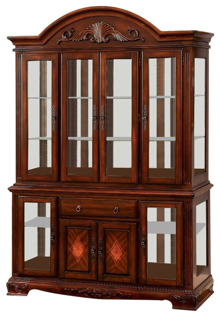 Petersburg I Traditional Design Formal Dining Room China Hutch Buffet Cabinet