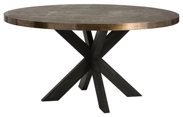 Arteriors Home   Arteriors Halton Galvanized Iron Dining Table   Dining  Tables