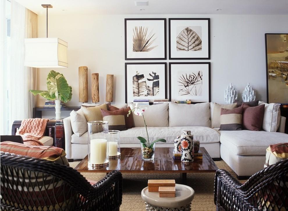 Home design - contemporary home design idea in Miami