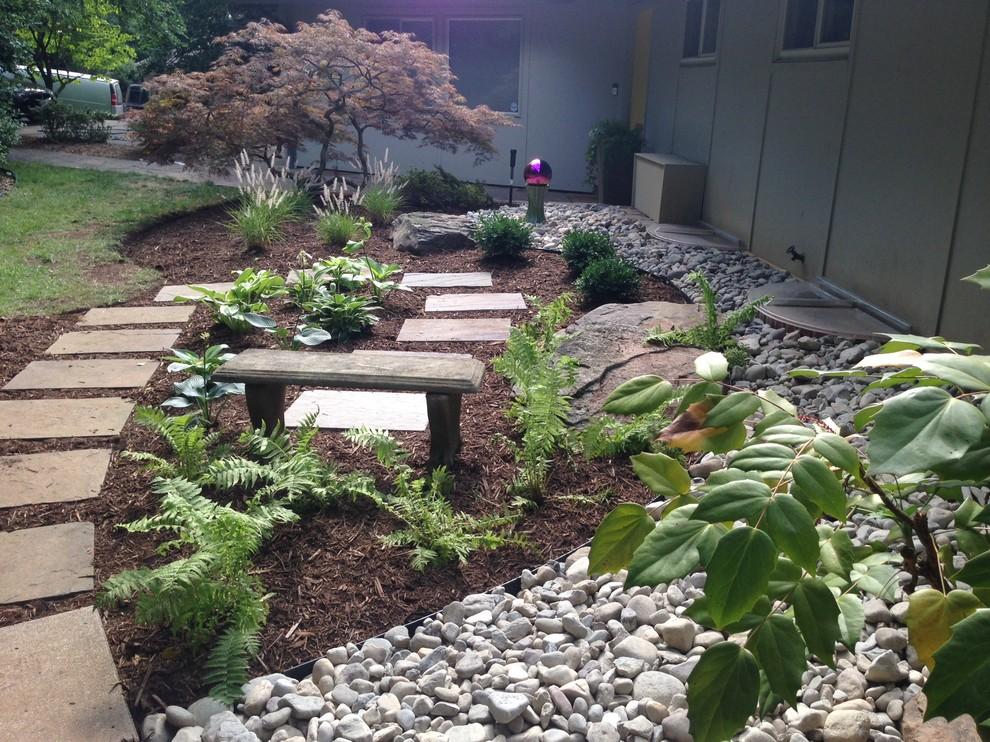Contemporary foundation planting