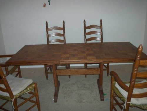 Old Ladderback Chairs