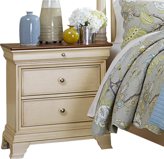 Homelegance Inglewood Ii 2 Drawer Nightstand In Antique White Traditional Nightstands And Bedside Tables By Beyond S