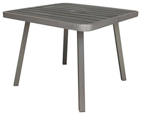 Fresca Outdoor Dining Table, Gray.