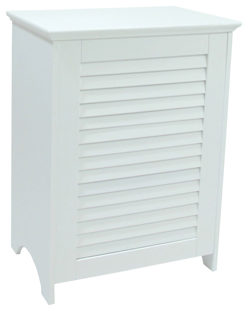 Contemporary Country Louvered Front Hamper.