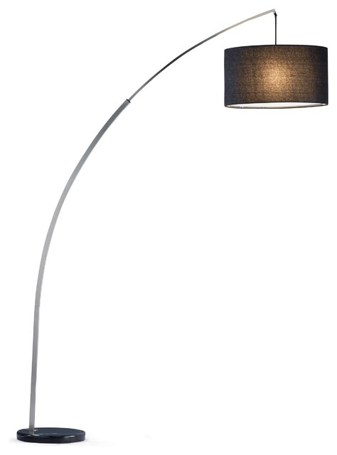 rivington arc lamp contemporary floor lamps by adesso. Black Bedroom Furniture Sets. Home Design Ideas