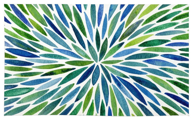 Society6 Watercolor Burst Blue and Green Rug  : contemporary area rugs from www.houzz.com size 640 x 398 jpeg 140kB