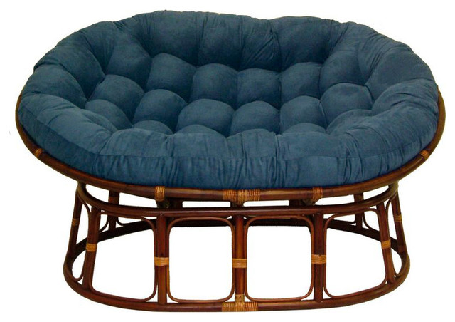 65 Quot X48 Quot Solid Micro Suede Double Papasan Cushion