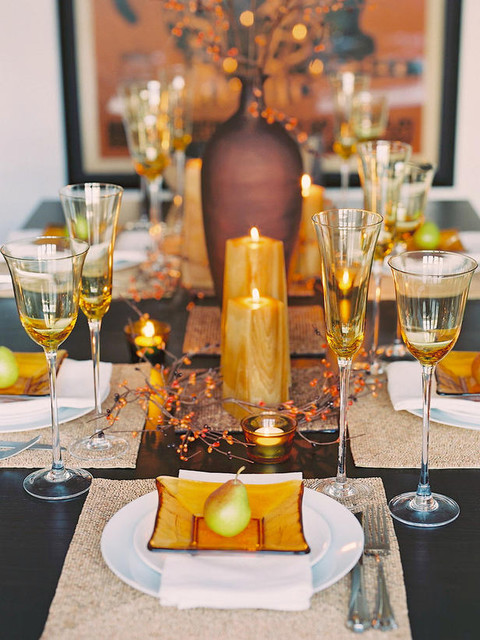 Glittering Fall Table Setting And Centerpiece Ideas Decorating Home Garden