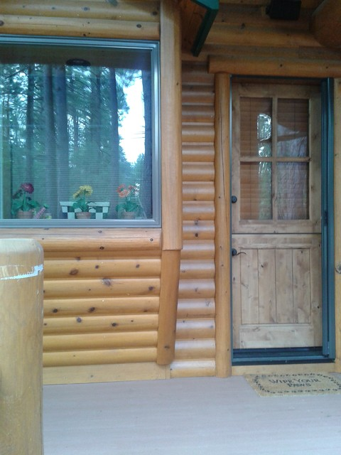 WHITE MOUNTAIN SUMMER HOMES rustic-entry