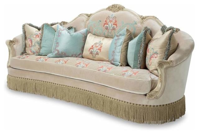 Aico Furniture Belle Fleur Mansion Sofa Champagne