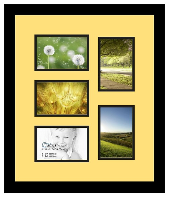 Arttoframes collage photo frame with 5 openings for Modern collage frame