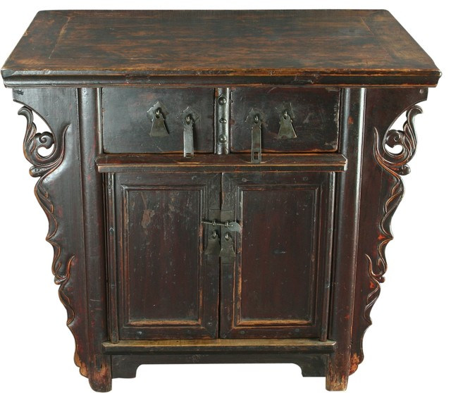 Consigned Side Cabinet, Late Qing Dynasty, Scrolling Clouds - Asian - Storage Cabinets - by ...