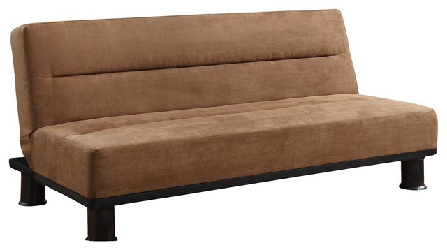 Capes Convertible Sofa Microfiber Brown Transitional Sofas By Amoc