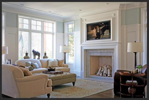 Posizione caminetto soggiorno idee per il design della casa - Copridivano rustico ...