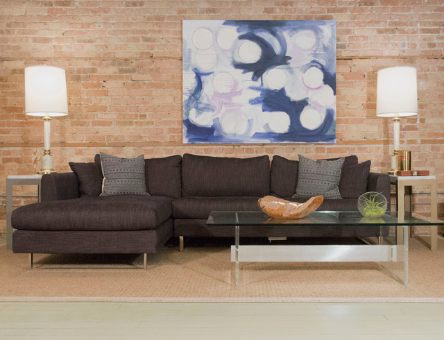 Owens Fabric Sectional by Interior Define Industrial Chicago