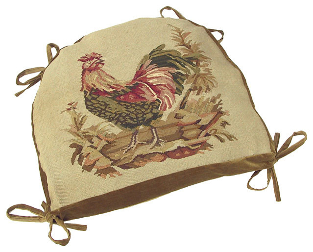 Aubusson Rooster Chair Cushion, ...
