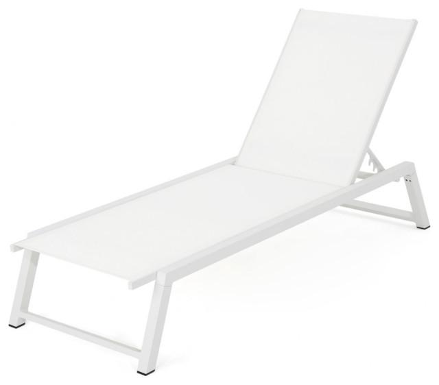 Gdf Studio Mesa Outdoor Chaise Lounge, Contemporary Outdoor Chaise Lounge Chairs