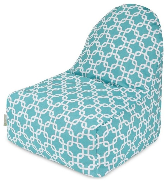 teal links kick it chair contemporary bean bag chairs by majestic home goods inc. Black Bedroom Furniture Sets. Home Design Ideas