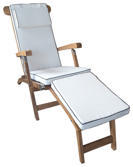 Cushion For Steamer Chair Transitional Outdoor Lounge Chairs