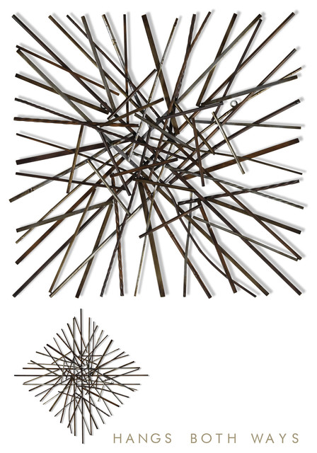 Pick Up Sticks, Metal Wall Art.