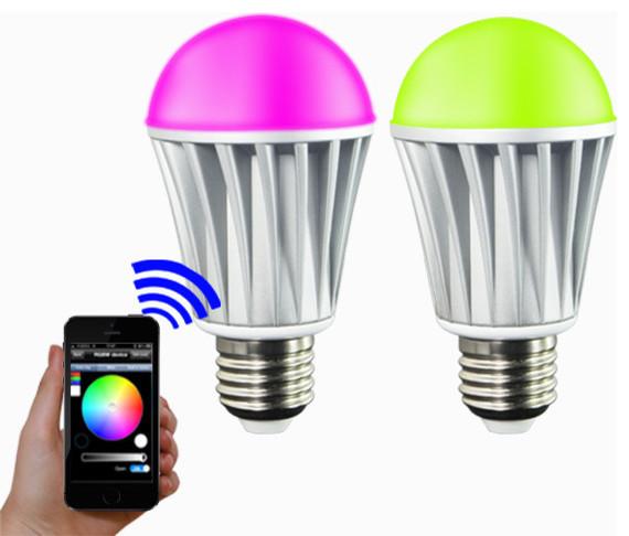 ios android app wifi phone control rgbw color magic led smart light lamp bulb 7w modern. Black Bedroom Furniture Sets. Home Design Ideas