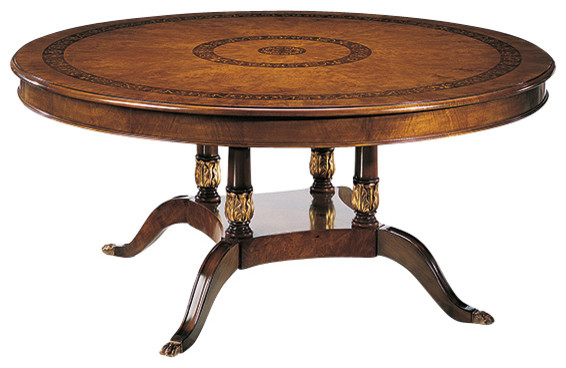 Round Empire Dining Table Traditional Tables