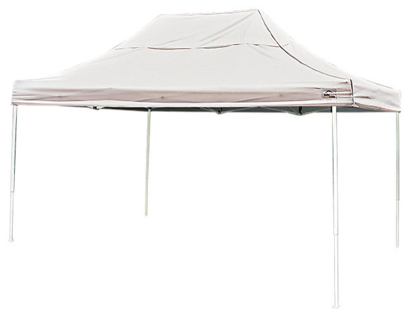 10&x27;x15&x27; Pro Pop Up Canopy Straight Leg, White Cover