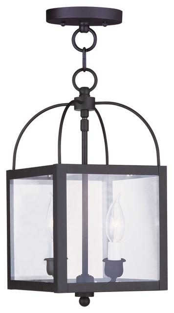 Livex Lighting 2-Light Black Chain Hang/ceiling Mount.