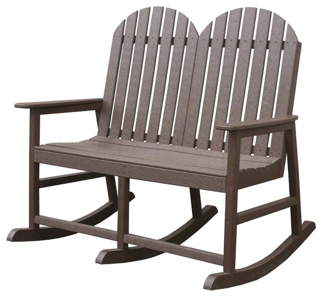 Eagle one alexandria double rocker modern living room for Double chairs for living room