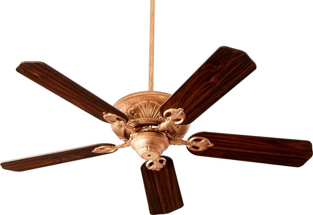 Quorum 52 5 blade chateaux fan vintage gold leaf traditional quorum 52 5 blade chateaux fan vintage gold leaf traditional ceiling fans mozeypictures Gallery