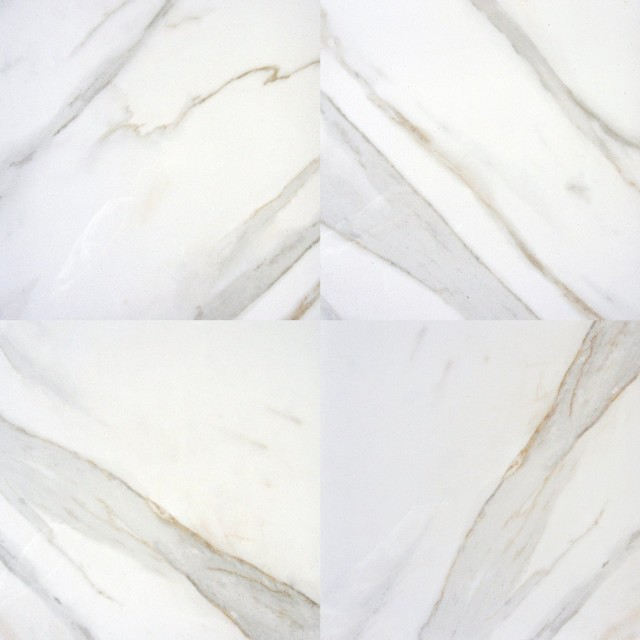 Pietra Calacatta Procelian 18 X18 Polished Marble Floor And Wall Tile Sample