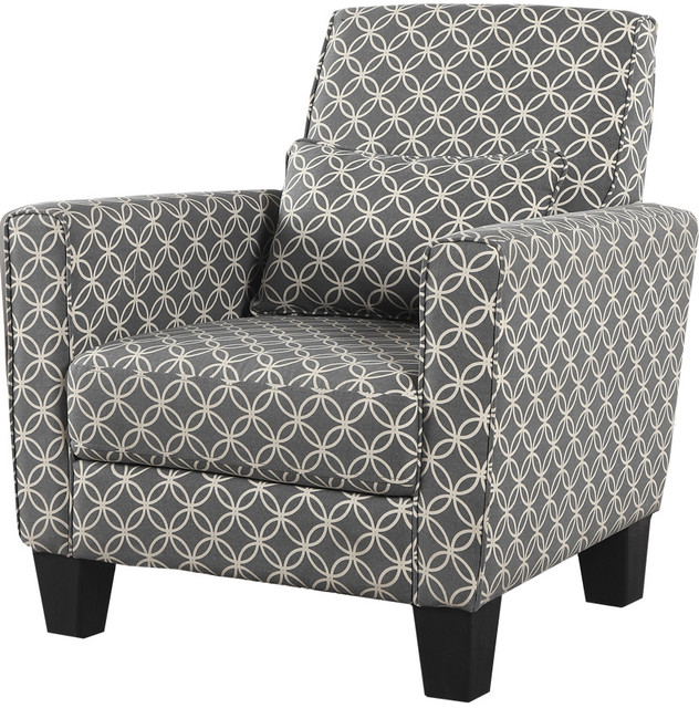 Geometric Print Accent Chair Contemporary Armchairs