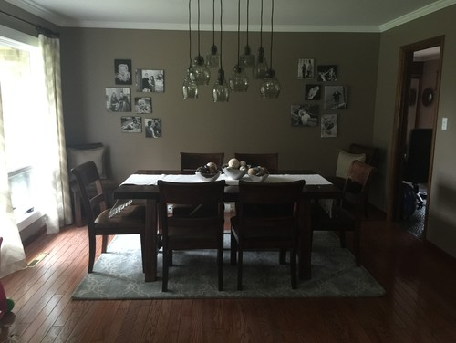 Small Dining Room Rug Or No At All Wall Decor HELP