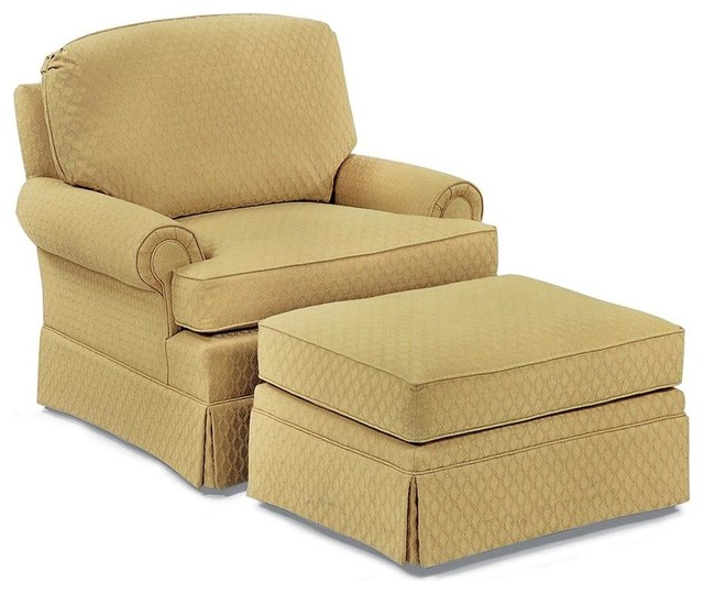 Fairfield Chair Co Lounge Chair W Skirted Ottoman Fabric