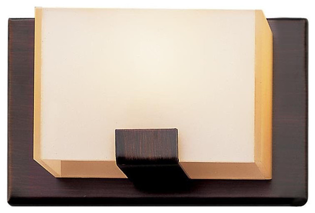 Halogen Bathroom Sconces cube 1-light halogen wall sconce, oil rubbed bronze - transitional