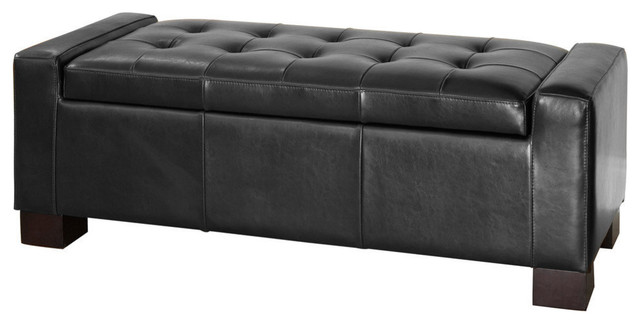 Astounding Gdf Studio Rothwell Leather Storage Ottoman Bench Gamerscity Chair Design For Home Gamerscityorg