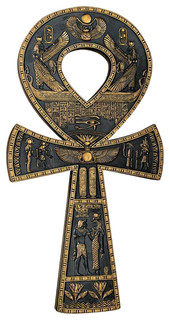 ancient egyptian ankh wall plaque eclectic wall. Black Bedroom Furniture Sets. Home Design Ideas
